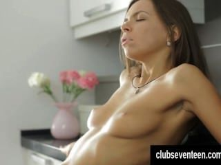 Sexy Brunette Teen Take Cock