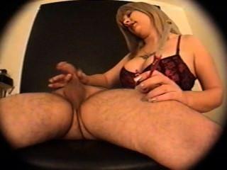 Blonde Smoking Handjob