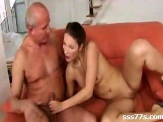 Nice Young Girl And Old Man