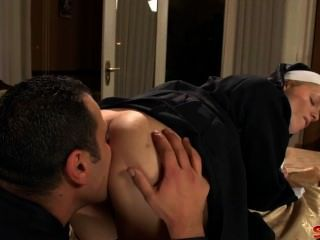 Naughty Nun Gets A Hard Fucking From Priest