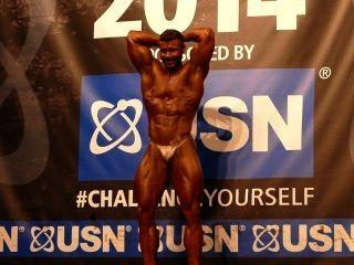Musclebull Fabian Mayr - Competitor No 66 - Class 1 - Nabba Universe 2014
