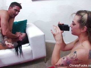 Christy Mack & Dahlia Sky Fuck A Lucky Guy