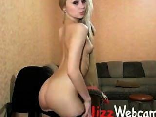 Cute Blonde Russian Teen Gapes Ass