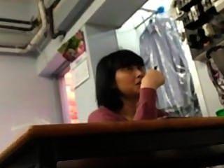 Flashing Asian Women
