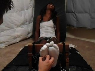 Ebony Foot Tickling