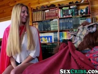 Blonde Big Tit Little Red Riding Hood Gets Fucked By A Big Bad Cock