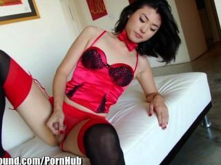 Tsplayground Beautiful Asian Ladyboy Touching Cock