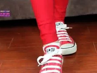 Sexy White Socks And Red Shoes