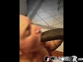 White Hoe Sucking Big Black Dick