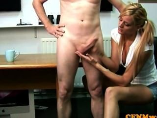 Mean Euro Cfnm Tugging Cock And Getting Rough