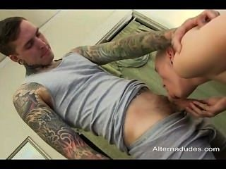 Boy With Vagina Fucked By Hot Tattoed Punk