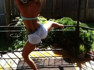 Twerking On The Back Porch Deck