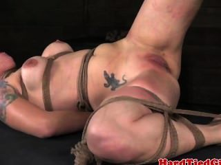 Gagged Sub Getting Spanked