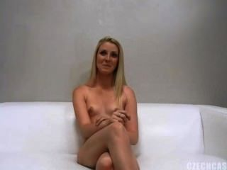 Blonde Babe Veronika Casting Shoot