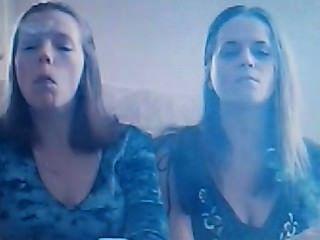 Monica And Friend Doing Smoke Tricks