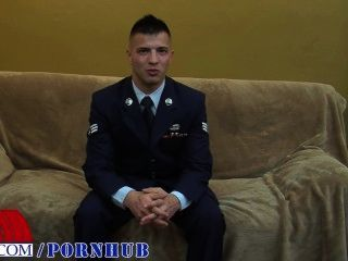 Senior Airman Everett Jerks His Beautiful Cock