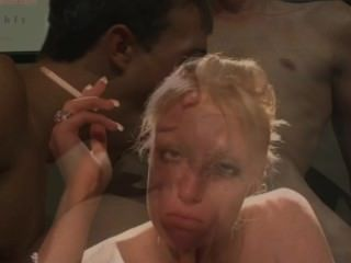 Sissy Training - Sexy Blonde Smoker Makes You Enjoy Gay Sex