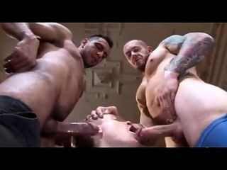 2 Beef Hunk Fuck Cute Blonde Guy In A Suit At Work