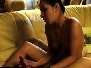 Aminas Handjob With Cumshot