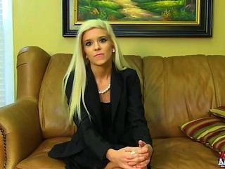 Halle Von - Petite Blonde On Casting Couch
