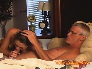 Old Man Fucks The Hot Babysitter