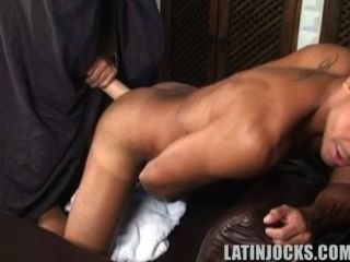 Straight Looking Latino Plays With Himself While Teased By A Dildo (part 2)