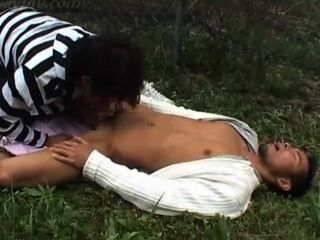 Japanese Outdoor Blowjob