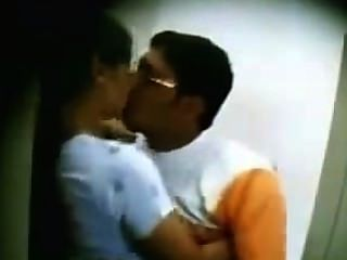 Desi Mallu Wife Kissing By His Friend In Bathroom.mp4