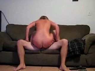 Making Love To My Wife In The Couch.