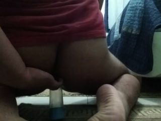Brazilian Young Boy Plays With Dildo