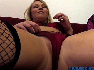 Abigail Toyne Masturbates On Sofa