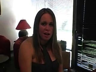 Busty Babe Brandy Showing Her Tits While On Interview