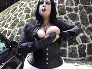 Smoking Blowjob With Leather Gloves