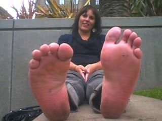 Lady Has Horrible Smelling Feet Out Of Flats