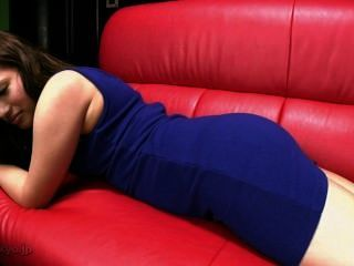 Sexy Farts In Red Sofa