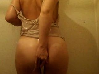 Wet Shower Striptease