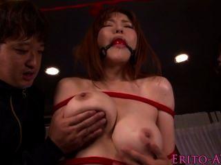 Busty Av Girl Anri Okita In Bondage Groupsex