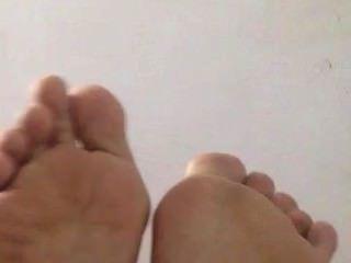 Asian Ex Girfriend ..feet Soles Toes Wrinkled ( 26 Cm Size.super Soft Skin)