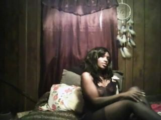 Black Girl Smoking Then Plays To Squirtin Orgasim