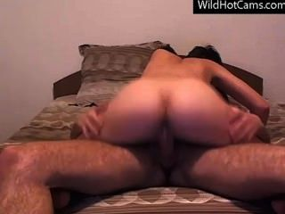 Hot Young Couple Having Sex In Cam, Blowjob, Cum Swallow