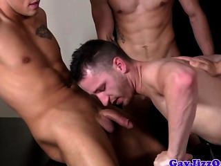 Orgy Loving Muscled Hunks Spitroast Dude