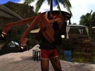Venicie Et Koub Qui Dansent Sensuellement Sur La Plage