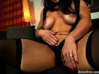 Bodybuilder Plays With Her Big Clit In Lingerie