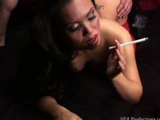 Mya Luanna Fucks And Smokes Like A Pro