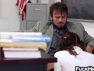 Slutty Schoolgirl In Detention Fucks Her Teacher