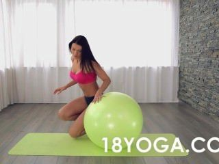 Yoga Teen Kitana Lure Anal Fucked On Ball