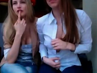 Two Girls Flashing In Public