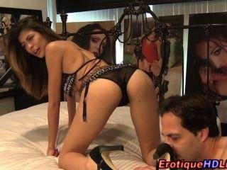 Pornstar Sucks On Webcam