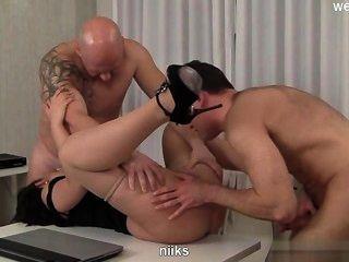 Busty Gf Bondage Gangbang
