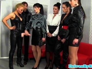 Lezdom Covers Five Sluts In Loads Of Cum